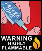 Freeze Gone -- Warning: Highly Flammable